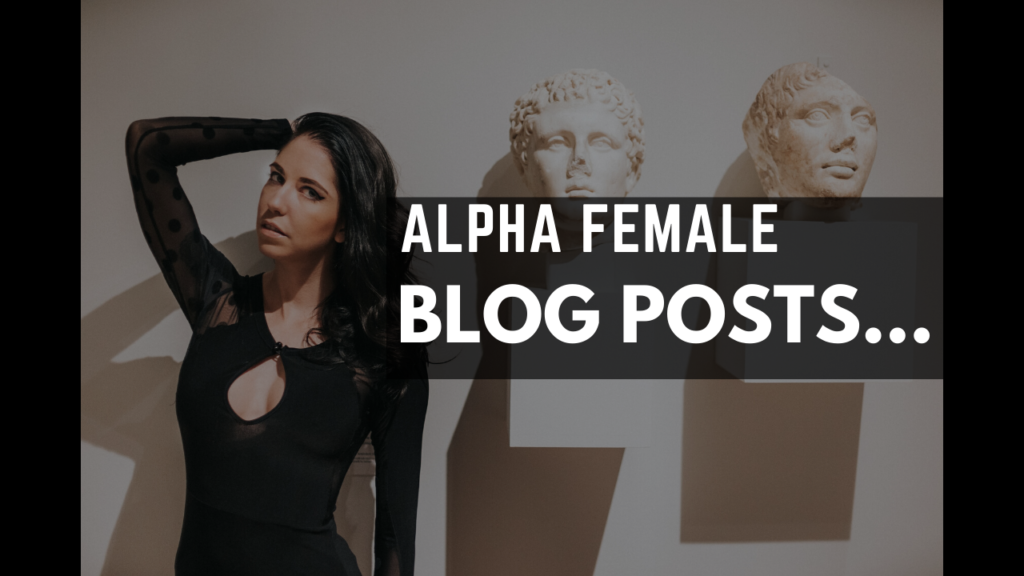 Alpha femele blog post button