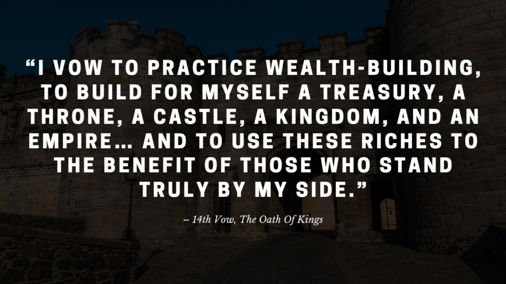 14th Vow, The Oath Of Kings