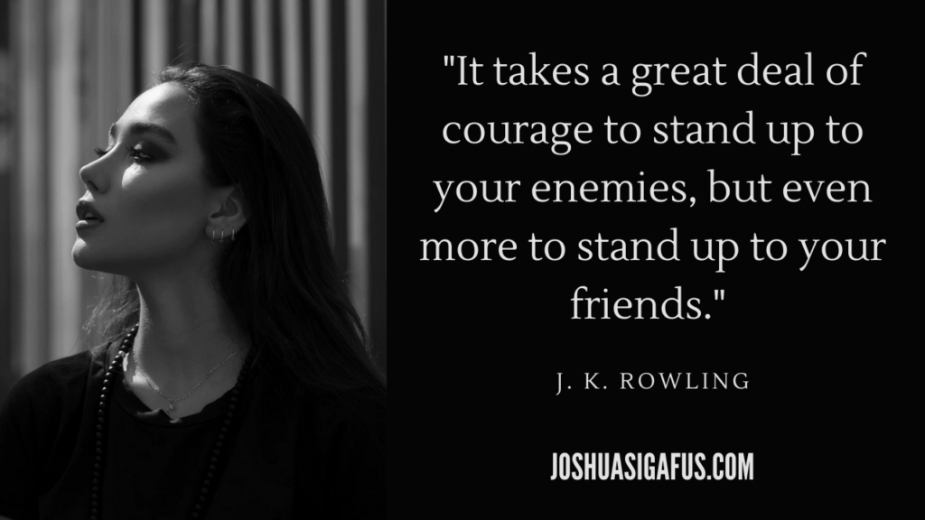 image 12 It takes a great deal of courage to stand up to your enemies quote
