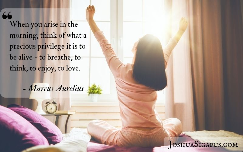 When you arise in the morning, think of what a precious privilege it is to be alive - to breathe, to think, to enjoy, to love