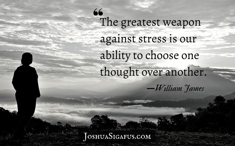 the greatest weapon we have against stress
